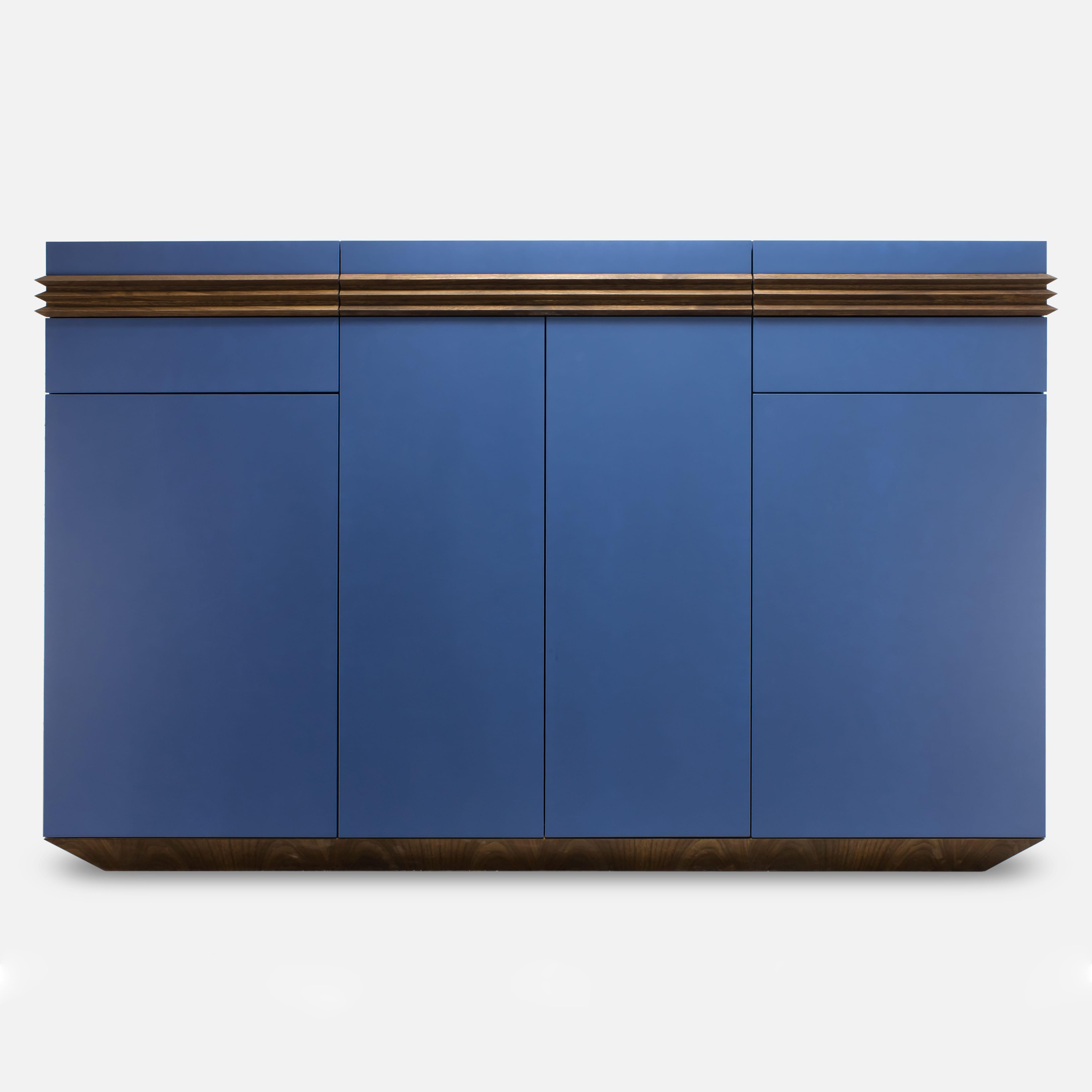 "дизайнерский комод ""BLUE-WALNUT"""